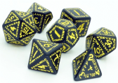 Black & Yellow Runic Dice Set
